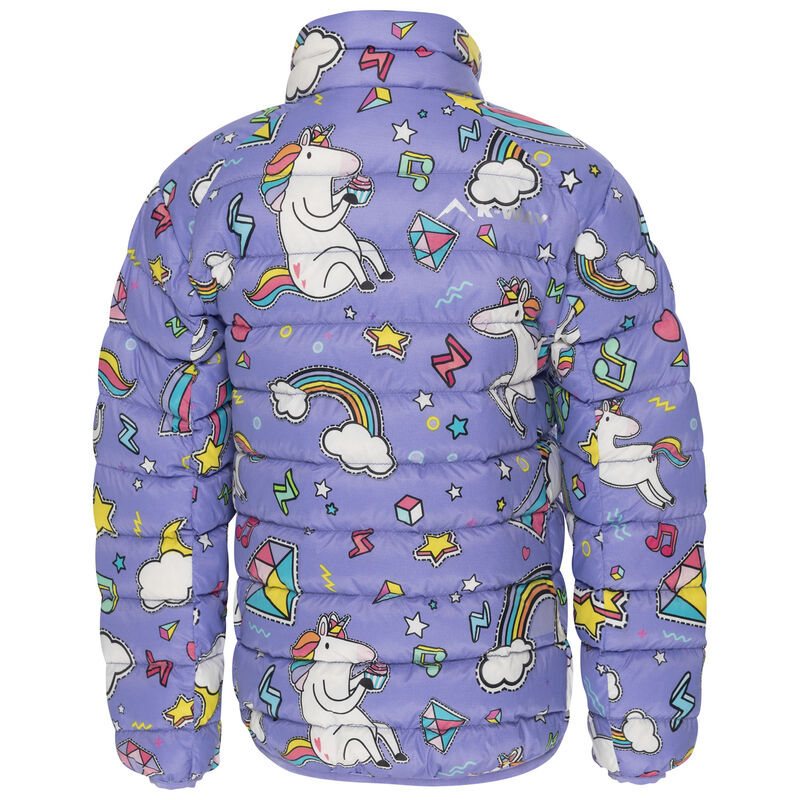 K-Way Kids Printed Cygnet Down Jacket -  lilac-assorted
