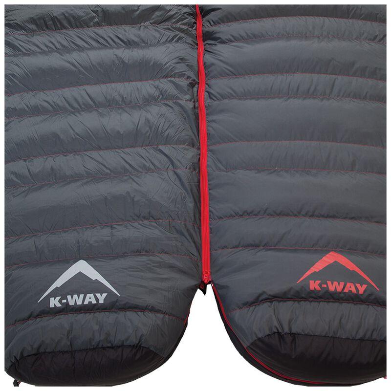 K-Way Expedition Series Kilimanjaro 3 Thermashift Sleeping Bag -  charcoal-red