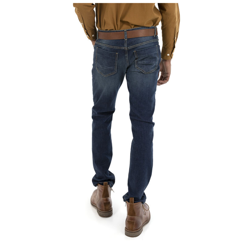 Mayson Men's Narrow Straight Denim  -  midblue