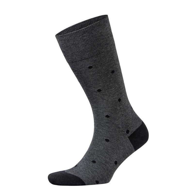 Falke Dot Anklet Sock -  charcoal-black