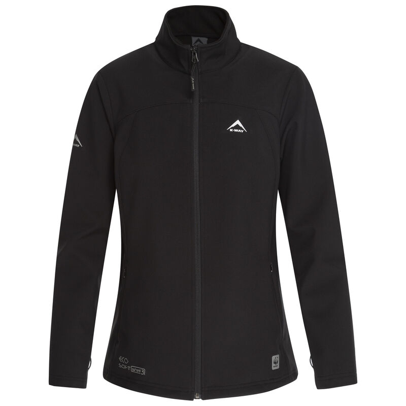 K-Way Women's Cove Eco Softshell Jacket  -  black