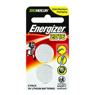 Energizer 2016 Lithium Coin Two-Pack
