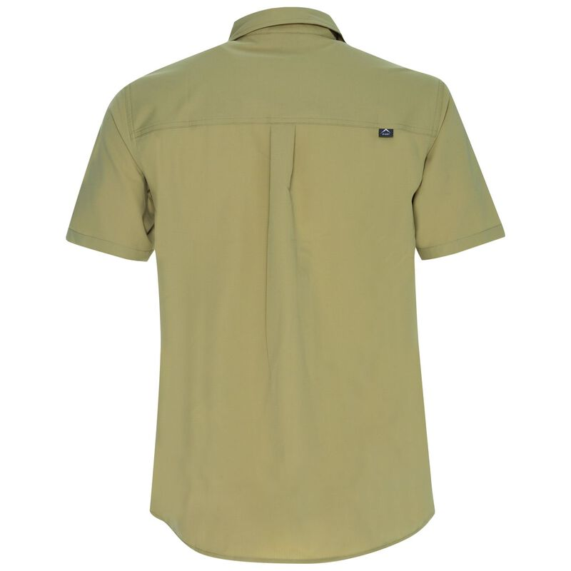 K-Way Men's Explorer Geoff Short Sleeve Shirt  -  khaki