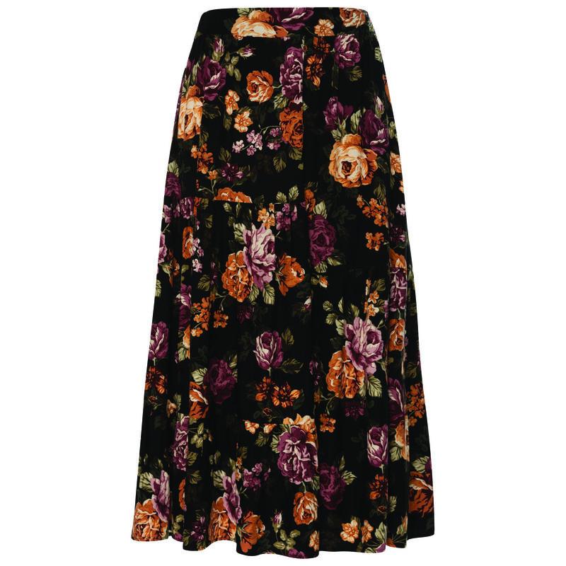 Tallie Women's Skirt -  black-assorted