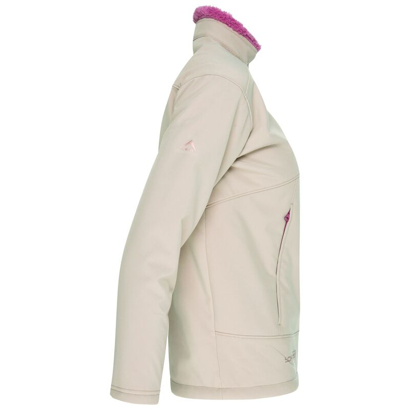 K-Way Kids Lynx 3-Ply Sherpa Softshell Jacket -  bone-berry