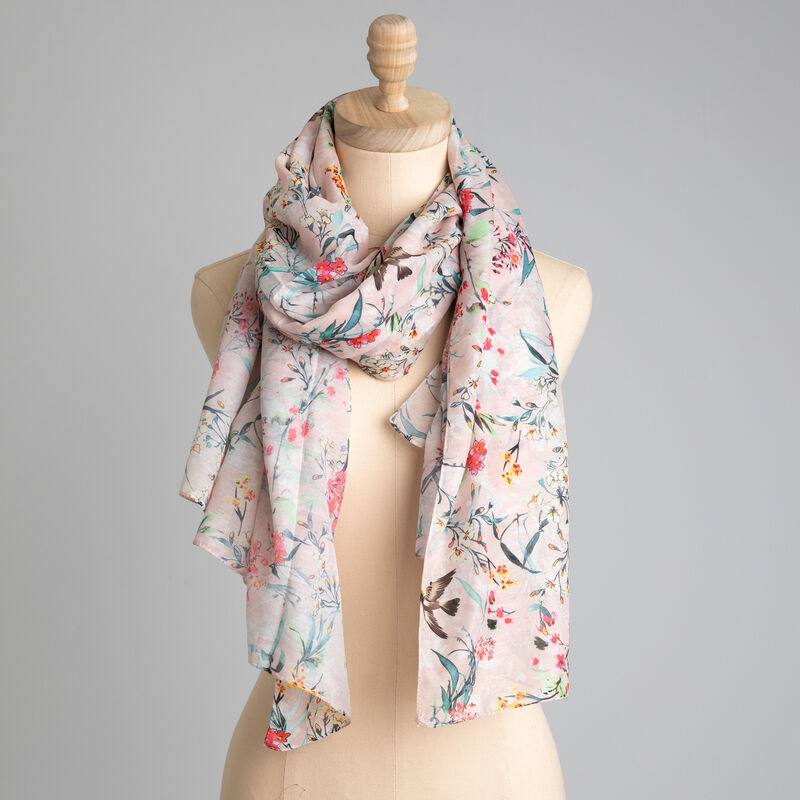Rare Earth Earla Floral Scarf -  pink-coral