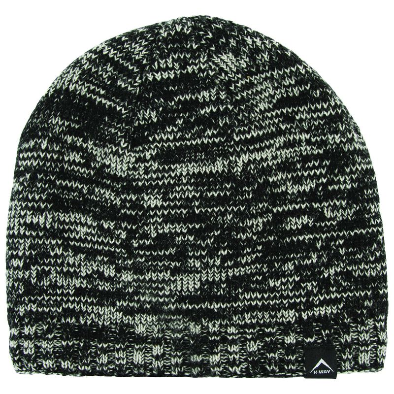 K-Way Triad Marl Beanie -  black-grey