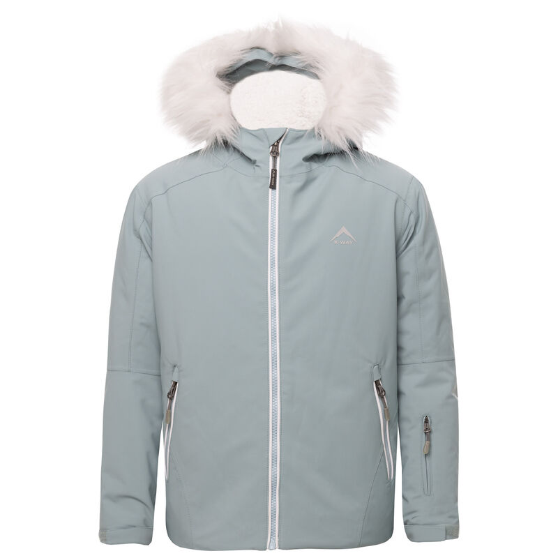 K-Way Youth Haukea Ski Jacket  -  duck-egg-silver