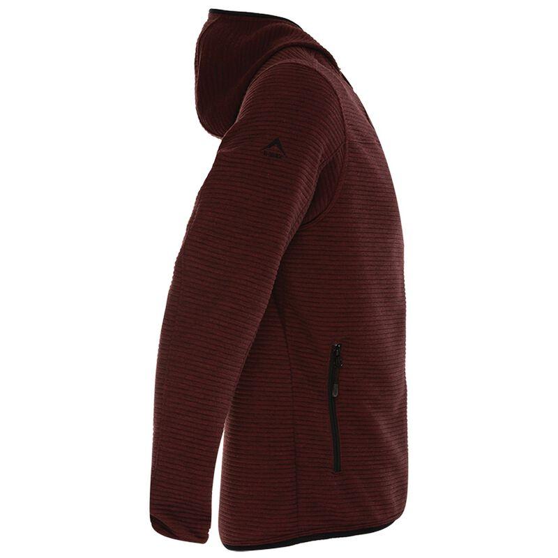 K-Way Men's Waldo Hooded Fleece -  oxblood-black
