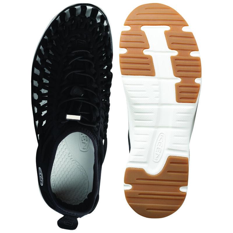 Keen Men's Uneek O2 Sandal -  black-white