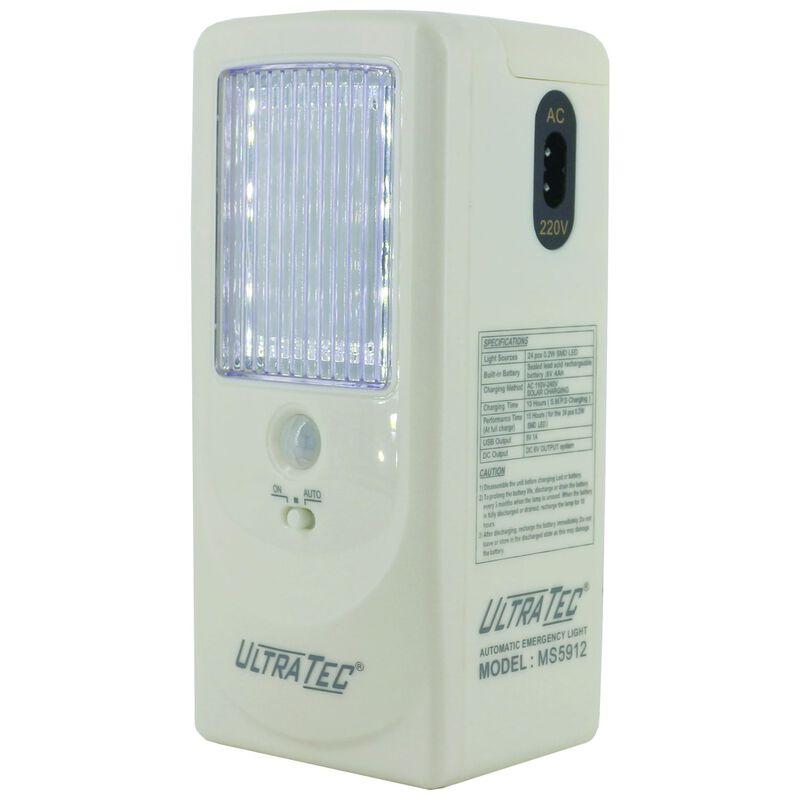 Ultratec Max Sensor Emergency LED Lantern -  white