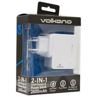 Volkano Wall Charger + 2600mAh Powerbank -  nocolour