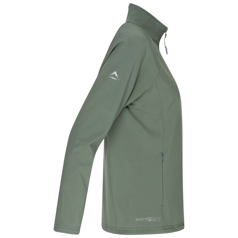K-Way Women's Mira'19 Softshell Jacket -  sage