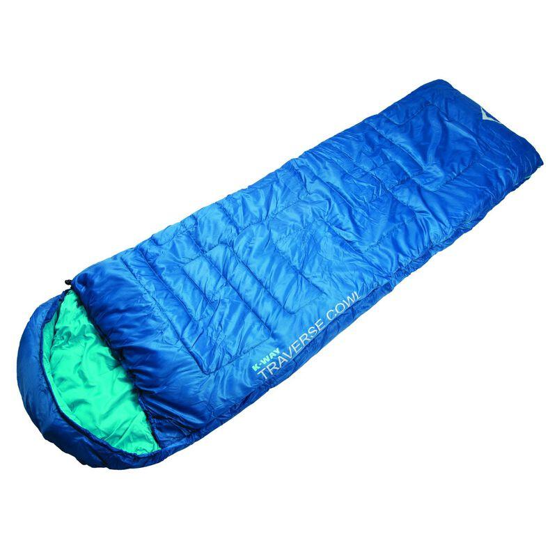 K-Way Traverse 2 Cowl Sleeping Bag -  blue-turquoise