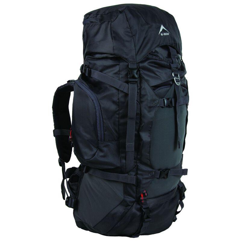K-Way Adventure 50+10L Hiking Pack -  grey-black