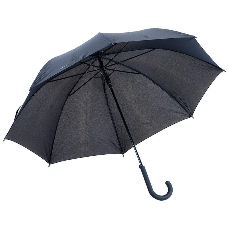 Umbrella Man 23 Steel Shaft & Rubber Hooked Handle -  black