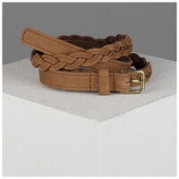 Old Khaki Ashlyn Skinny Plaited Belt -  tan
