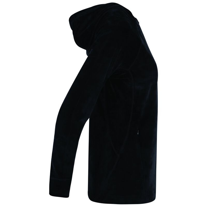 K-Way Women's Taryn Plush Hooded Fleece  -  black
