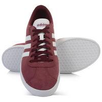 Adidas Men's VL Court 2.0 Shoe  -  burgundy-white