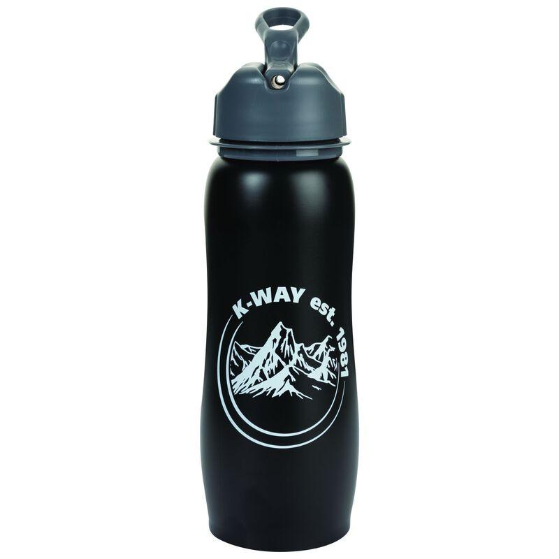 K-Way Explore Stainless Steel 750ml Bottle -  black-white
