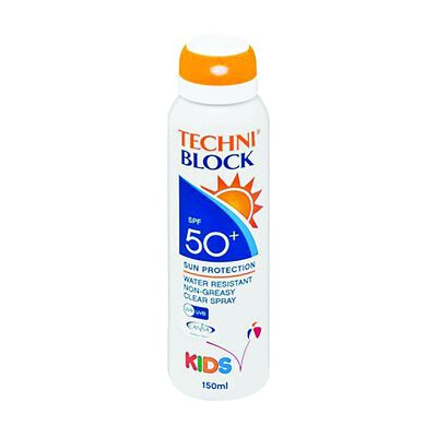 Techniblock SPF50+ 150ml Kids Spray