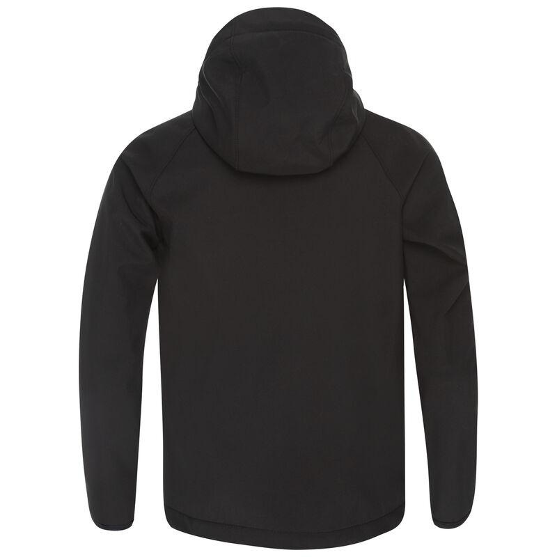 K-Way Youth Ocelot 3-ply Hoody Softshell  -  black-charcoal