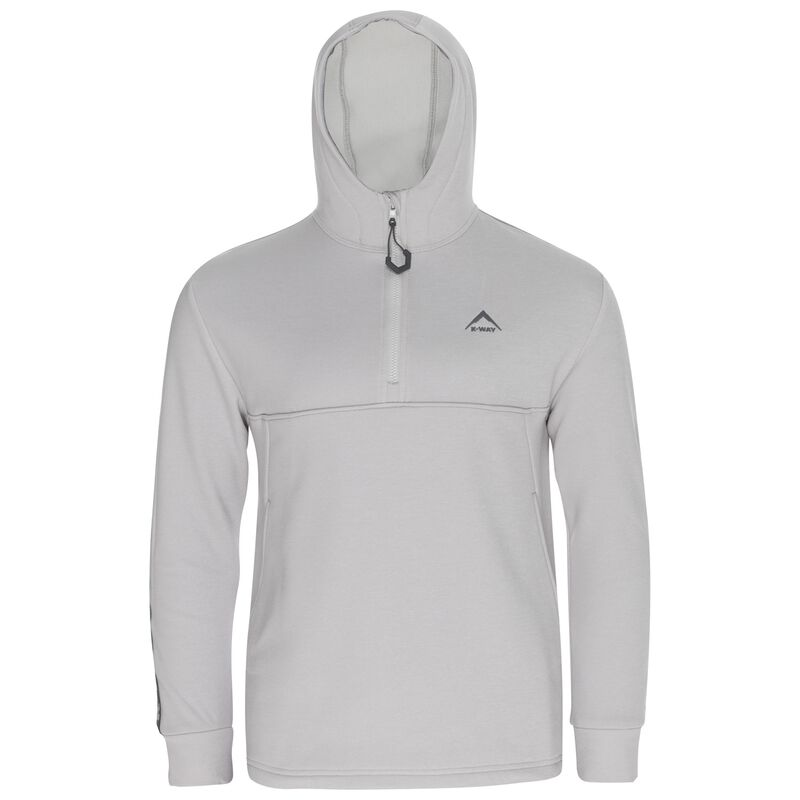 K-Way Youth Zac Quarter Zip Hoody (Boys) -  lightgrey