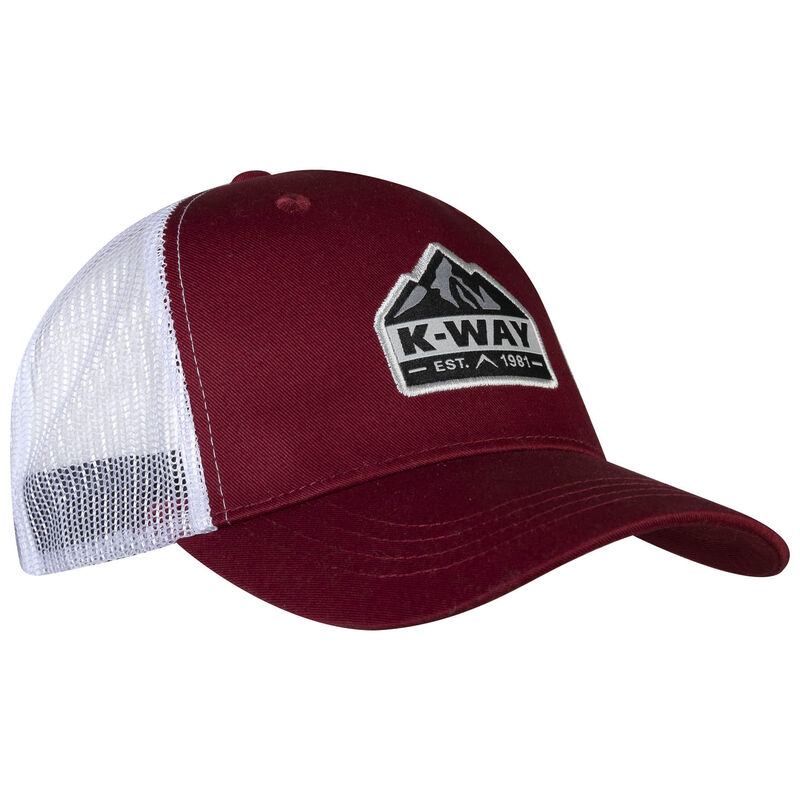 K-Way Scout Trucker Cap -  burgundy-white