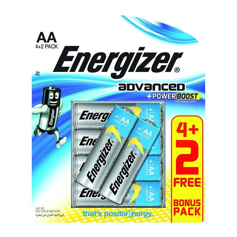 Energizer Advanced AA 4+2 -  nocolour