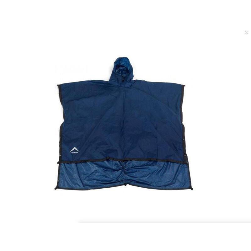 K-Way Poncho Rucsac Rain Cover -  navy