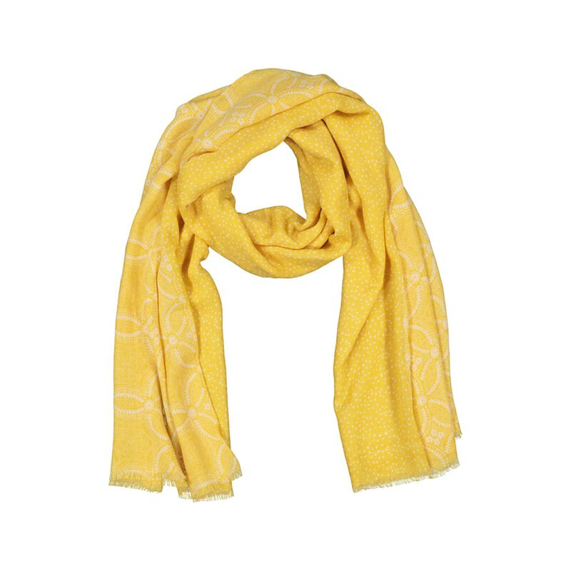 Rare Earth Women's Kadence Floral and Dot Scarf -  yellow-milk