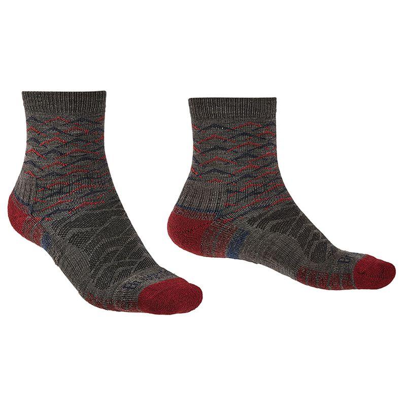 Bridgedale Men's Hiking Lightweight Endurance Sock -  brown-darkred