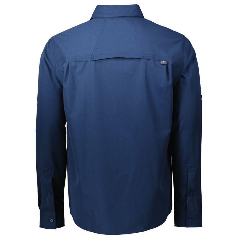 K-Way Men's Explorer Tredou Long Sleeve Shirt  -  navy