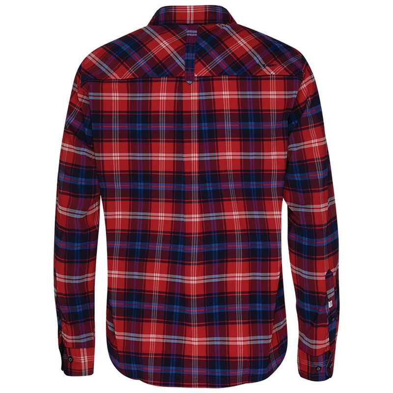 K-Way Men's Explorer Swerve Long Sleeve Shirt  -  red-royal