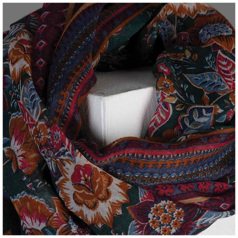 Kehlani Womens Floral Scarf -  assorted