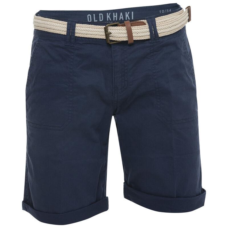Callia Women's Belted Shorts -  blue-navy