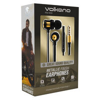Volkano Alloy Aux Earphones -  gold