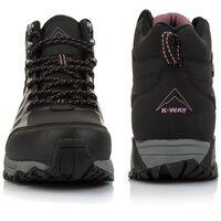 K-Way Women's Edge 2 Mid Boot -  black-plum