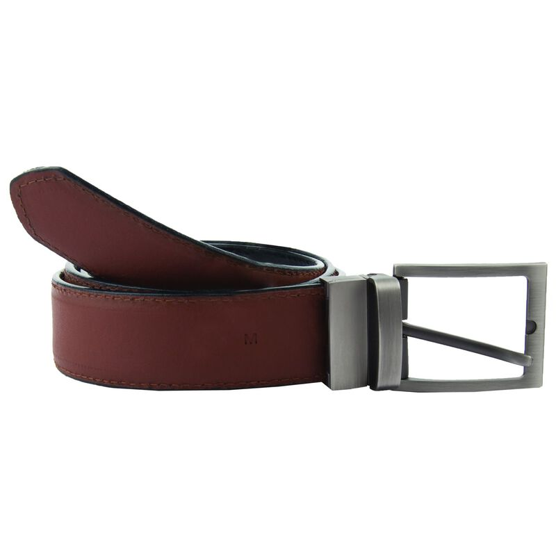 Arthur Jack Men's Benton Reversible Belt  -  tan-navy
