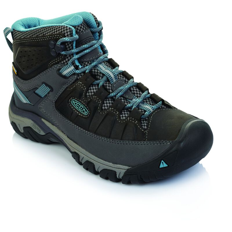 Keen Women's Targhee 3 Mid Waterproof Boot -  charcoal-lightblue
