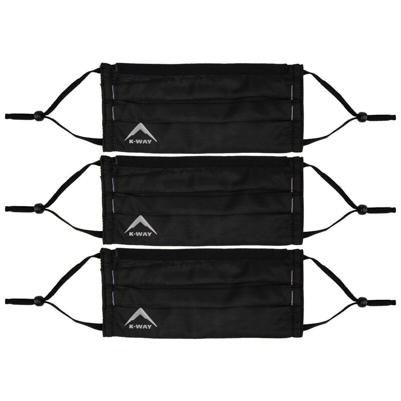 K-Way MB2 Fabric Face Mask 3-Pack -  black-dustypink
