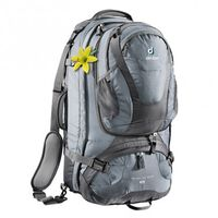 Deuter Traveller 60+10 SL Backpack -  black-turquoise