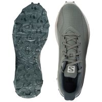 Salomon Men's Alphacross Blast Shoe  -  lightolive-cream