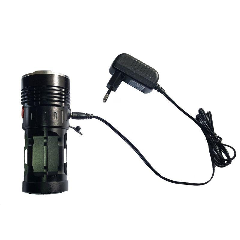 Zartek ZA417 Rechargeable Torch -  black