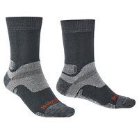 Bridgedale Men's Hiking Midweight Endurance Sock -  grey-orange