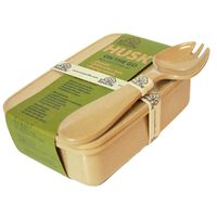 EcoSoulife Husk On The Go Lunchbox And Spork Set -  brown