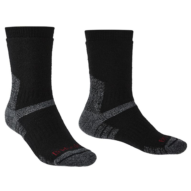 Brigedale Men's Explorer Heavyweight Endurance Sock -  black