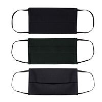 Fabric 2-Layer Face Mask 3-Pack with Filter -  navy-bottlegreen