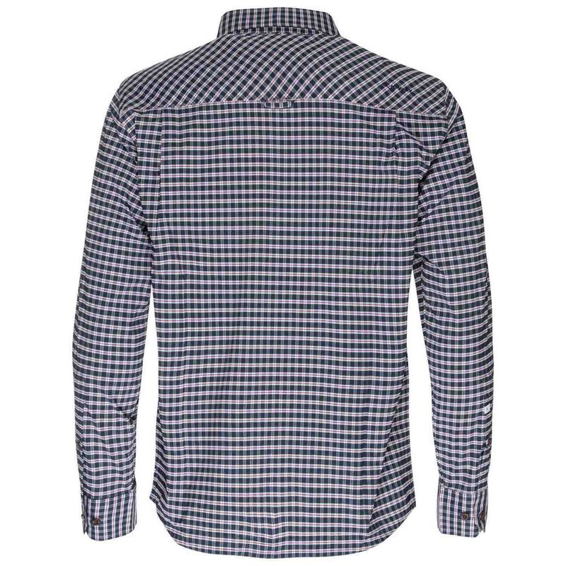 K-Way Men's Explorer Beaufort Long Sleeve Check Shirt -  navy-oxblood
