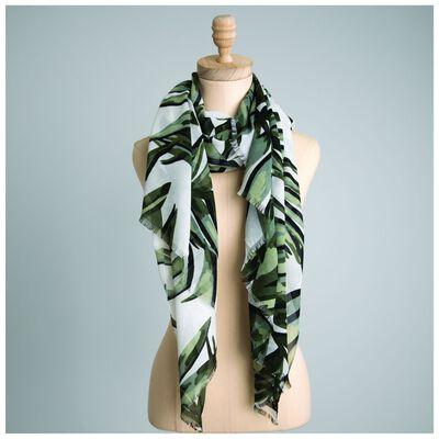 Camilia Leaf Print Scarf